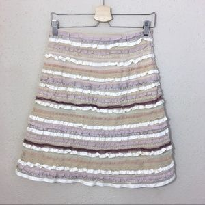 Anthropologie Odille Lace Ribbon Skirt Size 2
